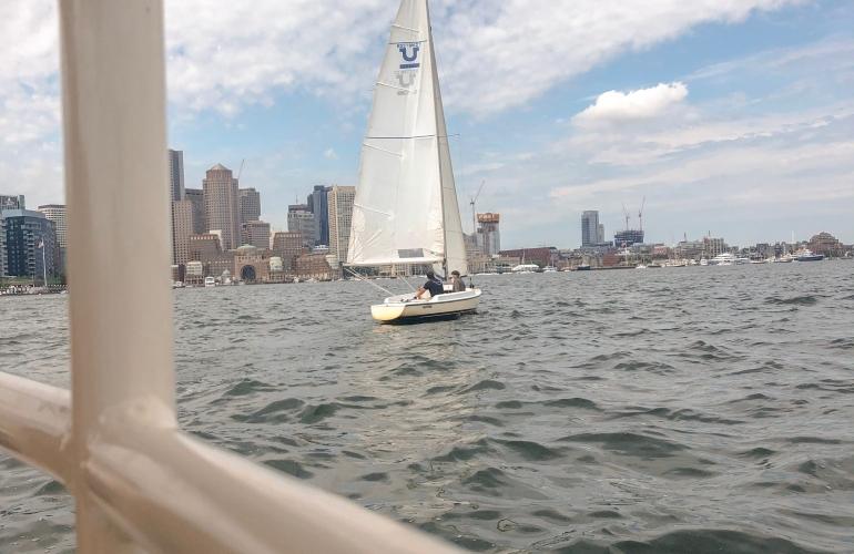 Ship in the Boston Harbor